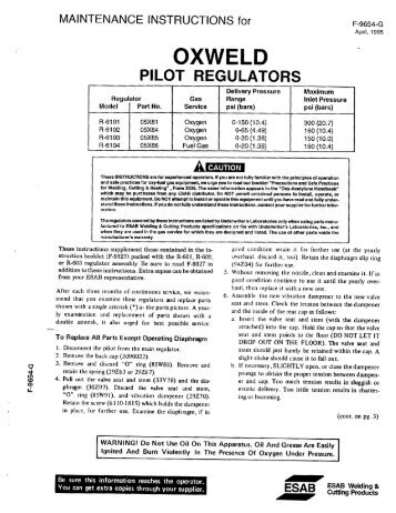 PILOT REGULATORS