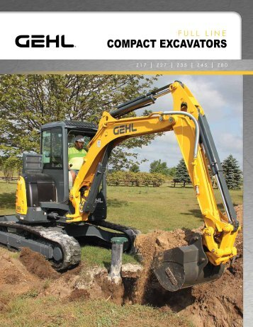 COMPACT EXCAVATORS - Gehl Company