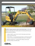COMPACT EXCAVATORS - Gehl Company - Page 4