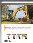 COMPACT EXCAVATORS - Gehl Company - Page 6