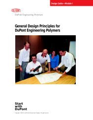 General Design Principles for DuPont Engineering Polymers - Module