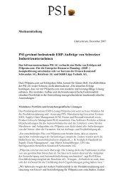 PSI gewinnt bedeutende ERP-Aufträge von Schweizer ...