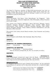 PSIA/AASI-INTERMOUNTAIN BOARD OF DIRECTORS MEETING ...