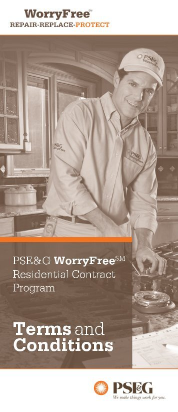 WorryFree Terms and Conditions Brochure - PSEG.com