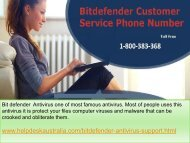 1-800-383-368 Quick Assist  Bit Defender Antivirus Tech Support Phone Number