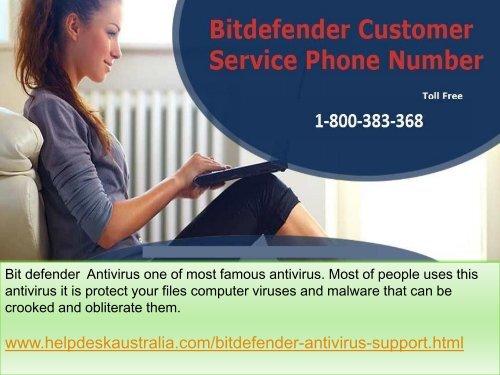 1-800-383-368 Quick Assist  Bit Defender Antivirus Tech Support Phone Number