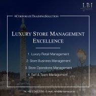 LBI Corporate Training Solution: Luxury Store Management Excellence (English)