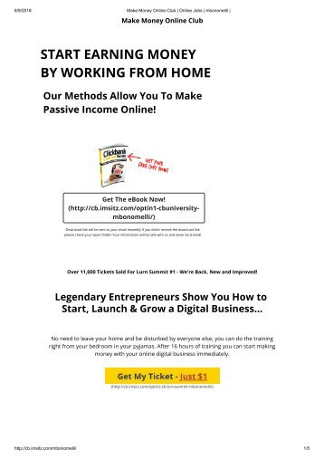 Making money online programs