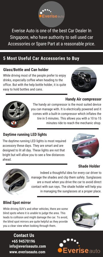 Get Best Deal On Second-Hand Car Accessories In Singapore