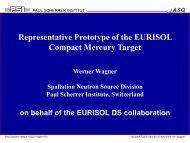 Representative Prototype of the EURISOL Compact ... - SCK•CEN