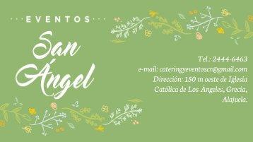 Catálogo de servicios Eventos San Ángel