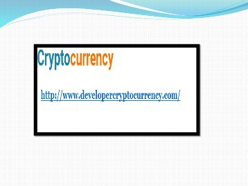 Built Own Cryptocurrency Software - Cryptocurrency Development -