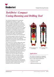 TorkDrive™ Compact Casing-Running and Drilling Tool Specifications