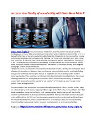 Provide More than Energy your body with Swiss Navy Triple X