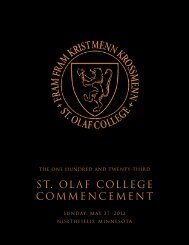 ST. OLAF COLLEGE COMMENCEMENT