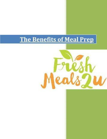 The Benefits of Meal Prep