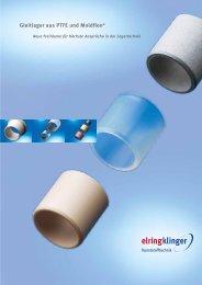 Gleitlager aus PTFE und Thermoplastischen Werkstoffen