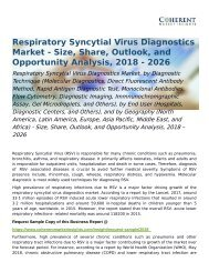 Respiratory Syncytial Virus Diagnostics Market Opportunity Analysis, 2018 – 2026