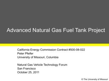 Advanced Natural Gas Fuel Tank Project - EERE