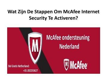 Wat Zijn De Stappen Om McAfee Internet Security Te Activeren