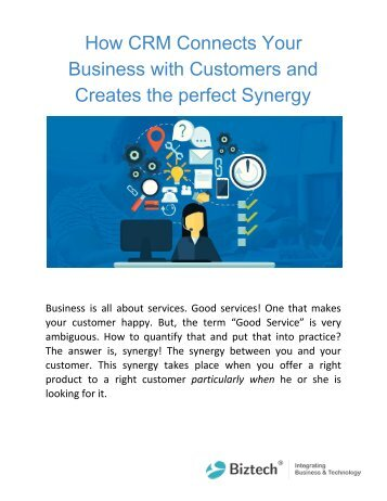 How CRM Connects Your Business with Customers and Creates the perfect Synergy