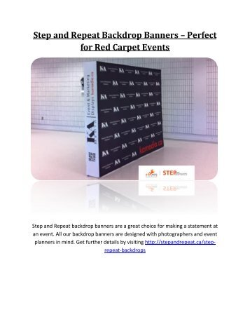 Step and Repeat Backdrop Banners – Perfect for Red Carpet Events
