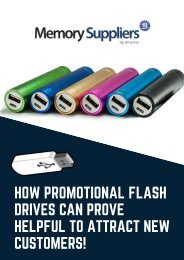 How Promotional Flash Drives Can Prove Helpful To Attract New Customers!