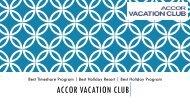 Accor Vacation Club - Best Timeshare Program & Resorts