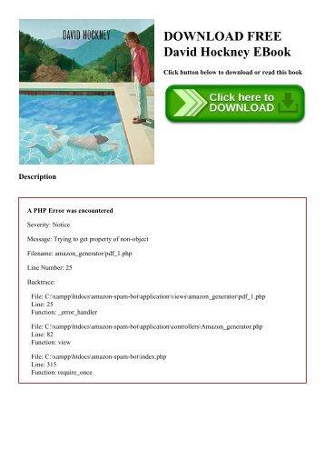 DOWNLOAD FREE David Hockney EBook
