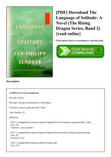 [PDF] Download The Language of Solitude A Novel (The Rising Dragon Series  Band 2) {read online}