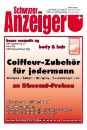 Schwyzer Anzeiger – Woche 34 – 24. August 2018