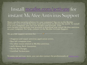 Instant and quick support for mcafee activate by mcafee.com/activate