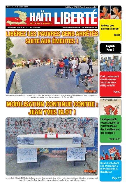 Haiti Liberte 22 Aout 2018