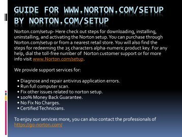 Norton Antivirus security software - norton.com/setup