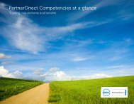 Certification requirements at a glance - PartnerDirect - Dell