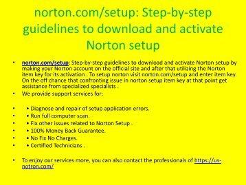 Install & activate Norton antivirus products