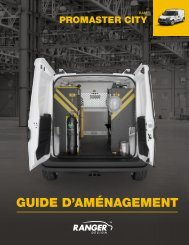 Guide d'aménagement RAM ProMaster City (2021)