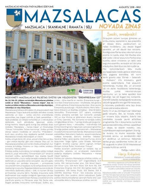 Mazsalacas novada ziņas_augusts_2018