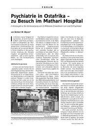 Psychiatrie in Ostafrika - Ärztekammer Nordrhein