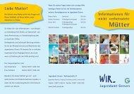 Flyer: Informationen für nicht verheiratete Mütter - Stadt Greven