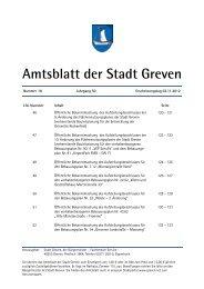 Amtsblatt der Stadt Greven