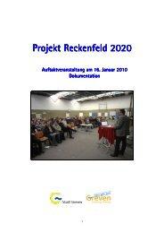 Dokumentation der Auftaktveranstaltung, 16.01.2010 - Stadt Greven
