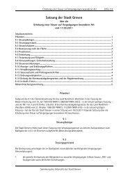 Satzung der Stadt Greven über die Erhebung einer