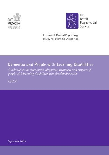 Dementia and people with learning disabilities - Royal College of ...
