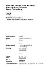 Freiwillige Dokumentation der Sozial- psychiatrischen Dienste in ...