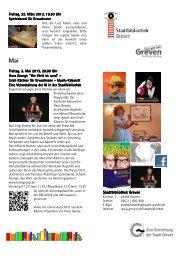 Veranstaltungen der Bibliothek zum Download - Stadt Greven
