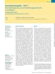 Serotonin Kompakt - Klinik und Poliklinik für Psychiatrie ...