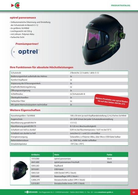 Conzelmann Schweißhandelsgesellschaft – Produktkatalog 2018