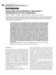 Neural stem cell proliferation is decreased in schizophrenia, but not ...