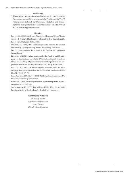 Zehn Methoden, wie Professionelle das eigene ... - rudolf-heltzel.de